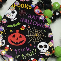"Happy Halloween Faceted Crystal Bead Necklace 32"" - BJS Country Charm"