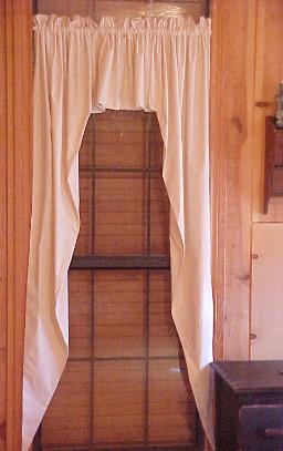 Country Primitive Handmade Super Muslin Swags Natural