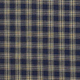 Blue Plaid Homespun Shower Curtain