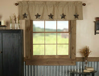 Farmhouse Star Applique Valance
