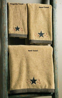 Primitive Star Vine Terry Hand Towel - BJS Country Charm