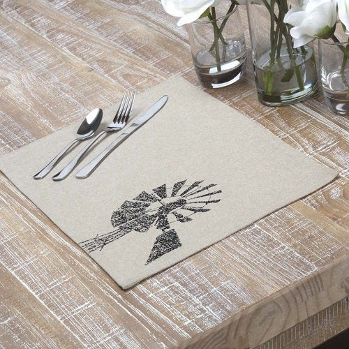Country Primitive Sawyer Mill Windmill Placemat - BJS Country Charm