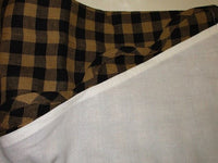 Primitive Black Check Scalloped Swags
