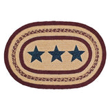 Country Primitive Potomac Star Braided Placemat 12 x 18 - BJS Country Charm
