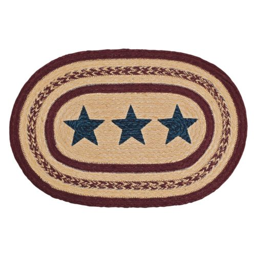 Country Primitive Potomac Star Braided Placemat 12 x 18