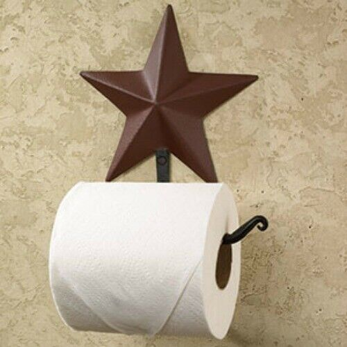 Burgundy Star Toilet Paper Holder
