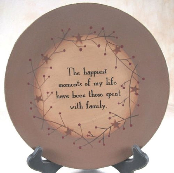 The Happiest Moments spent with Family Plate - BJS Country Charm