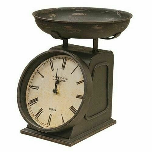 Country Primitive Decorative Scale Clock