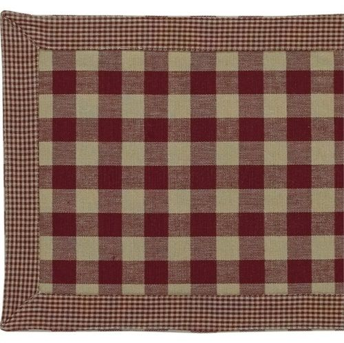 "Country Primitive York Burgundy Table Runner 36"" - BJS Country Charm"