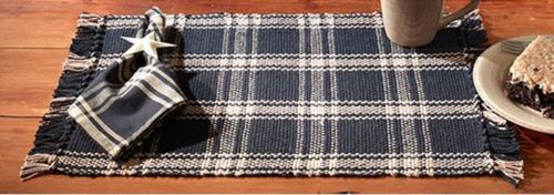 Country Primitive Classic Black Woven Placemat