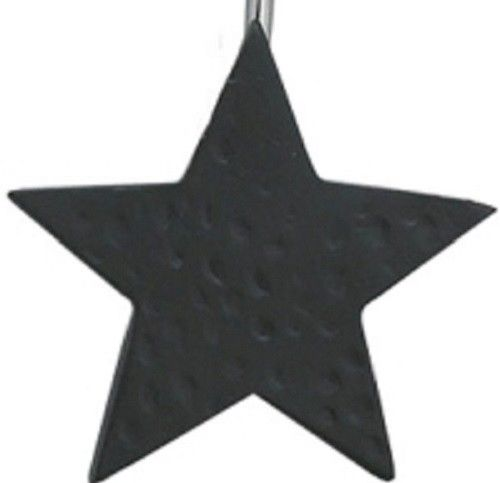 Country Primitive Black Star Shower Curtain Hooks