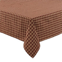 Country Primitive Burgundy Sturbridge Table Cover - BJS Country Charm