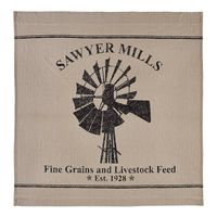 Primitive Sawyer Mill Windmill Shower Curtain - BJS Country Charm