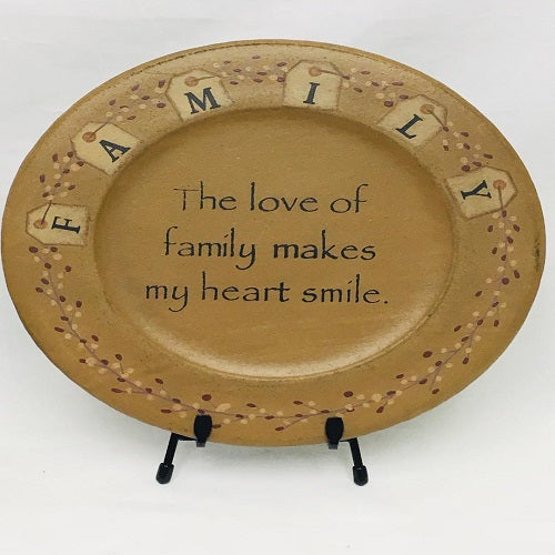 Country Primitive Decorative Plate FAMILY