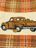 Fall Truck Oven Towel w Tab - BJS Country Charm
