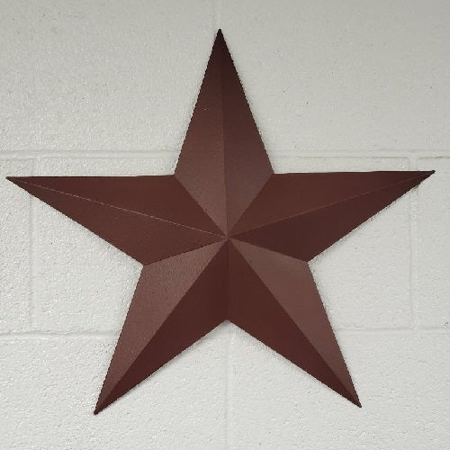"Country Primitive 18"" Burgundy Barn Star Metal - BJS Country Charm"