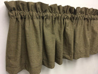 Primitive Black Micro Gingham Check Valance - BJS Country Charm