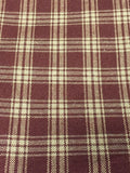 Primitive Burgundy Plaid Valance - BJS Country Charm