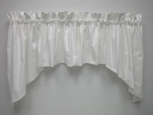 Handmade Country Primitive Muslin Swags WHITE