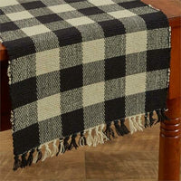 "Country Primitive Wicklow Black and Tan Table Runner 36"" or 54"" - BJS Country Charm"
