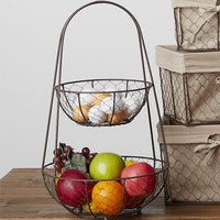 Farmhouse Chicken Wire Tiered Stand