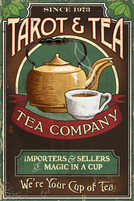 Tarot and Tea Vintage Ad