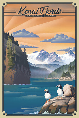Alaska - Kenai Fjords National Park - Lithograph