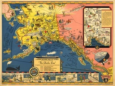 Alaska Steamship Company - 1934 Map