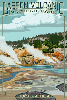 California - Lassen Volcanic National Park - Bumpass Hell
