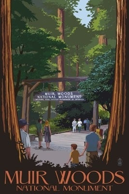 California - Muir Woods National Monument Entrance