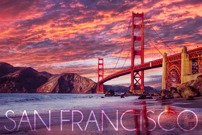California - San Francisco - Golden Gate Bridge and Sunset