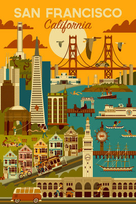 California - San Francisco Geometric