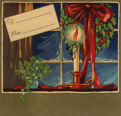 Christmas Candle - Citrus Crate Label