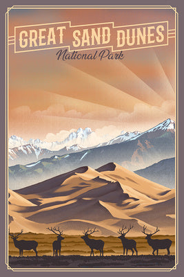 Colorado - Great Sand Dunes National Park - Lithograph