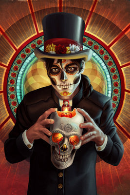 Day of the Dead - Man and Candle