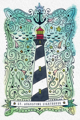 Florida - St. Augustine - Watercolor Lighthouse -