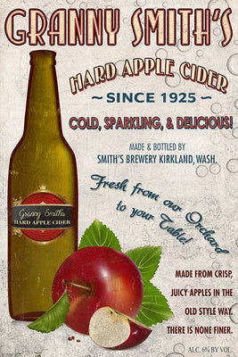 Granny Smith's Hard Apple Cider - Vintage Ad