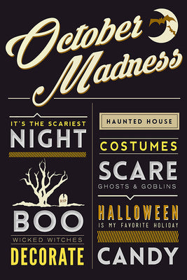 Halloween - October Madness Typography