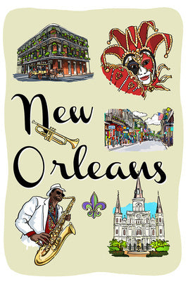 Louisiana - New Orleans Landmarks and Icons
