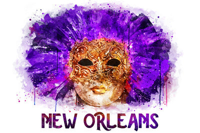 Louisiana - New Orleans - Purple Mask