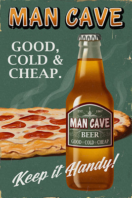 Man Cave Beer Ad