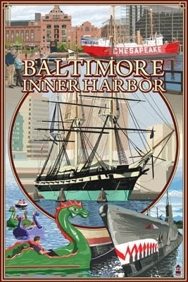 Maryland - Baltimore - Inner Harbor Scenes