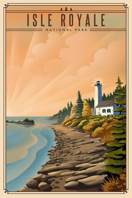 Michigan - Isle Royale National Park - Lithograph