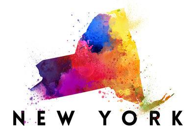 New York - State Watercolor
