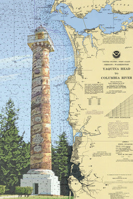 Oregon - Astoria Column - Nautical Chart