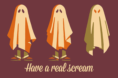 Retro Halloween - Have a Real Scream Ghost