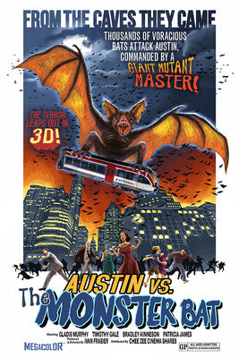 Texas - Austin vs The Monster Bat - B Movie Poster