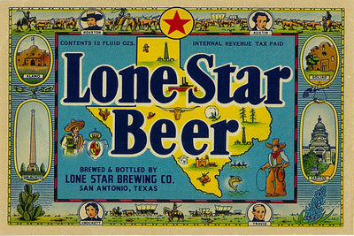 Texas - Lone Star Beer Vintage Ad