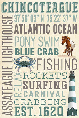 Virginia - Chincoteague - Typography