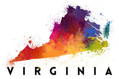 Virginia - State Abstract Watercolor